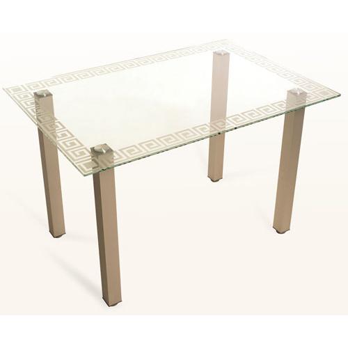 Стеклянный обеденный стол Кристалл-4